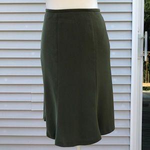 Kasper olive green skirt